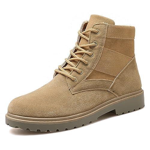 BOZEVON Hombre Martin Botas Botines Invierno Zapatilla Alta Casuales Zapatos Deportes al Aire Libre Calentar Boots, Negro: Amazon.es: Zapatos y complementos