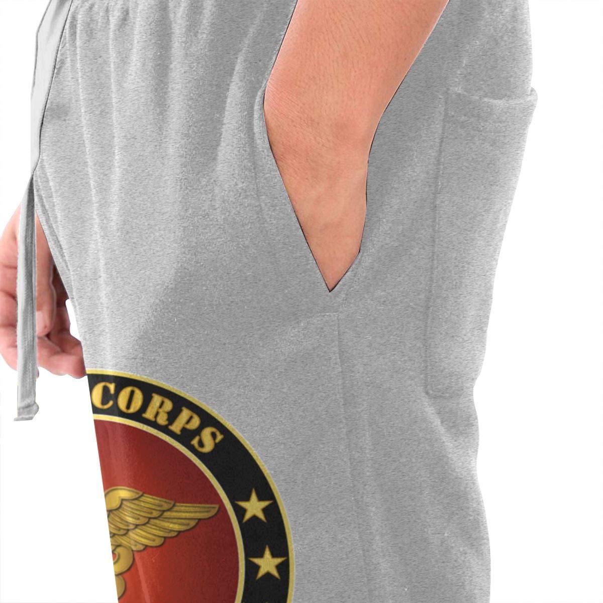Dbou Army Nurse Corps Logo Drawstring Waist,100/% Cotton,Elastic Waist Cuffed,Jogger Sweatpants Black