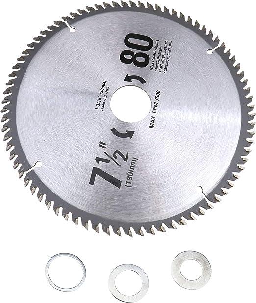 """3x  7-1//4/"""" inch 24T Carbide Tipped Circular Saw Blade fit Bosch Dewalt 5//8 Arbor"""