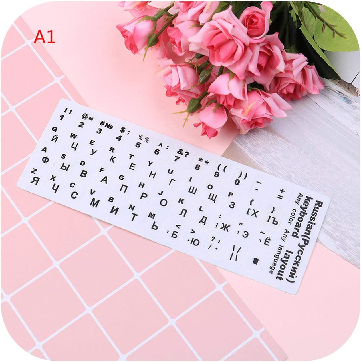 Russian Keyboard Cover Stickers for Mac Book Laptop PC Keyboard 10 to 17 Computer Standard Letter Layout Keyboard Covers Film-3
