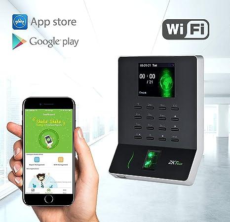 """ZKTeco Biométricos de Huellas Dactilares Asistencia Máquina Reloj Grabadora Empleado Check-in 2,4"""""""