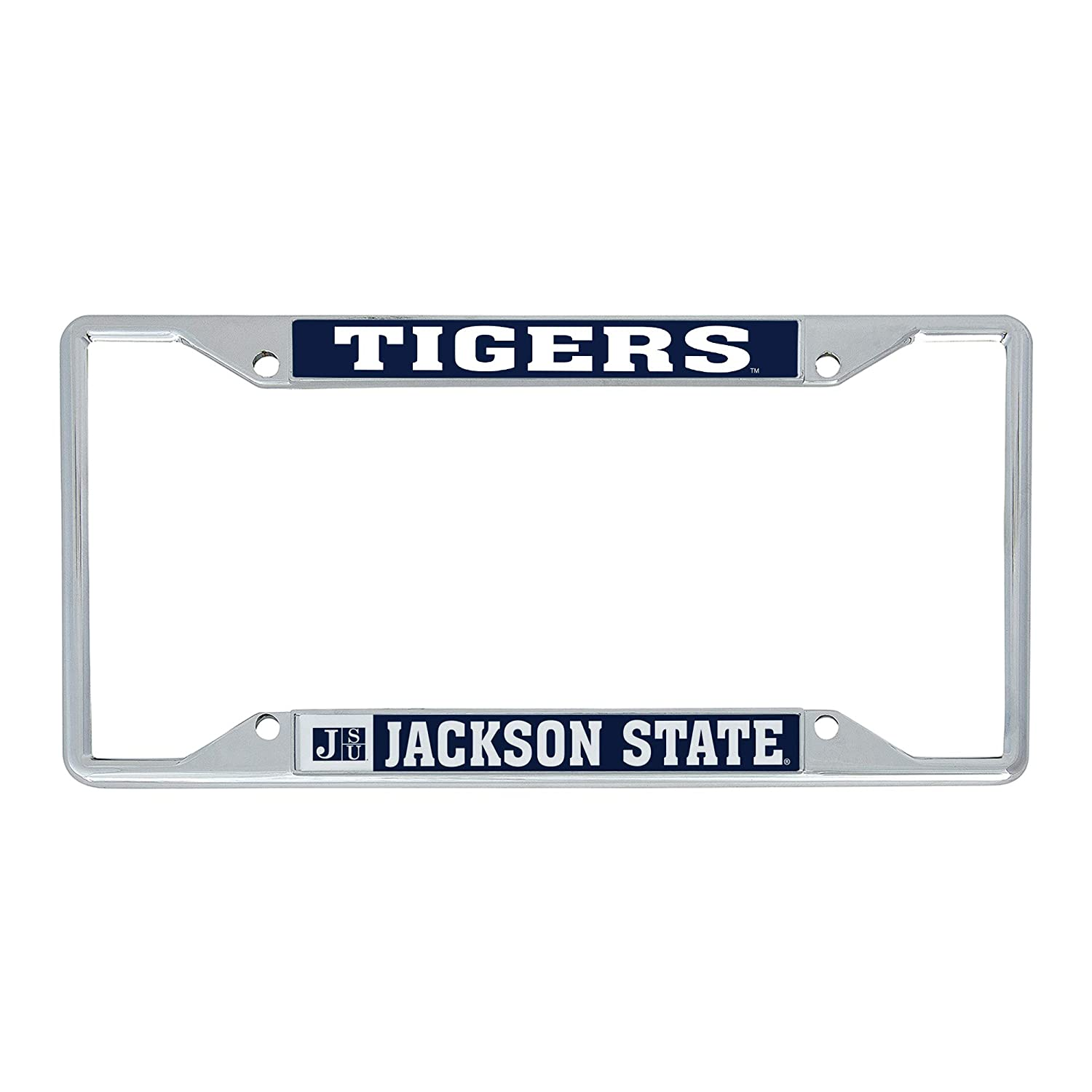 Desert Cactus Jackson State University J-State JSU Tigers NCAA Metal License Plate Frame for Front Back of Car Officially Licensed Mascot