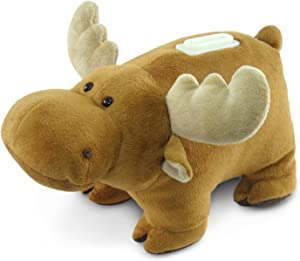 Puzzled Plush Moose Huggie Bank