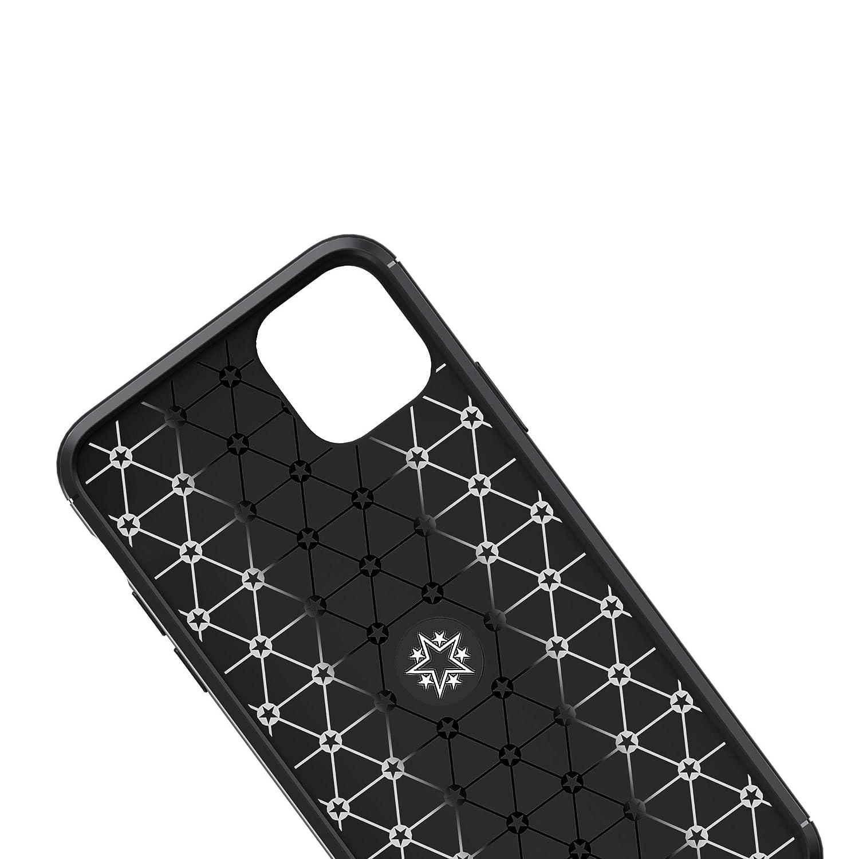CTIUYA Silikonh/ülle f/ür iPhone 11 Handyh/ülle Silikon TPU Case Schutzh/ülle mit Ring St/änder H/ülle Silikon Weich D/ünn Kratzfest Case Cover Etui f/ür iPhone 11,Schwarz
