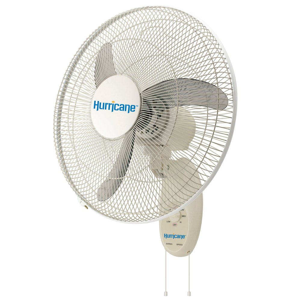 Hurricane Wall Mount Fan - 18 Inch | Supreme Series | Wall Fan with 90 Degree Oscillation, 3 Speed Settings, Adjustable Tilt - ETL Listed, White by Hurricane