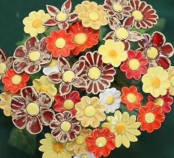 Rowe Deko Blumenset 20 Keramikblumen Sommer Amazonde Garten