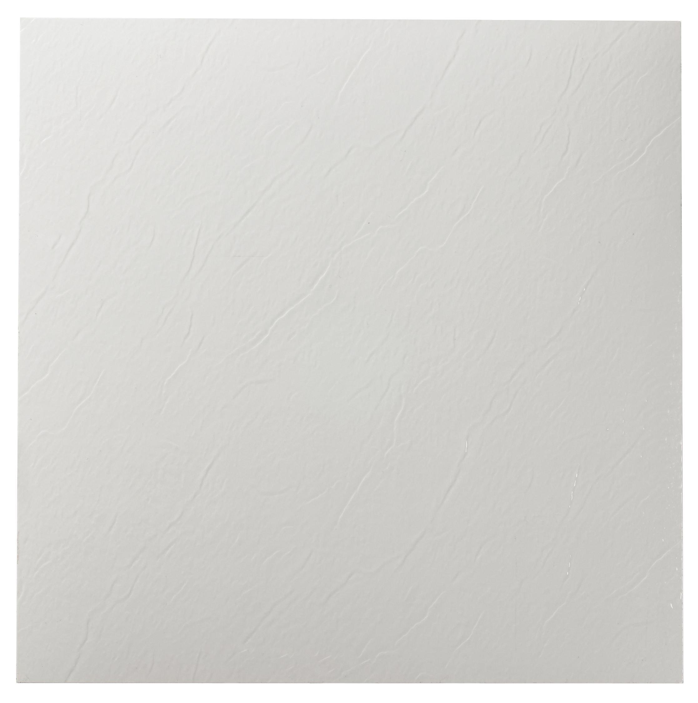 Achim Home Furnishings FTVSO10220 Nexus 12-Inch Vinyl Tile, Solid White, 20-Pack