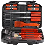 Estilo 18 Piece Stainless Steel Barbecue Grill Tool Set with Storage Case