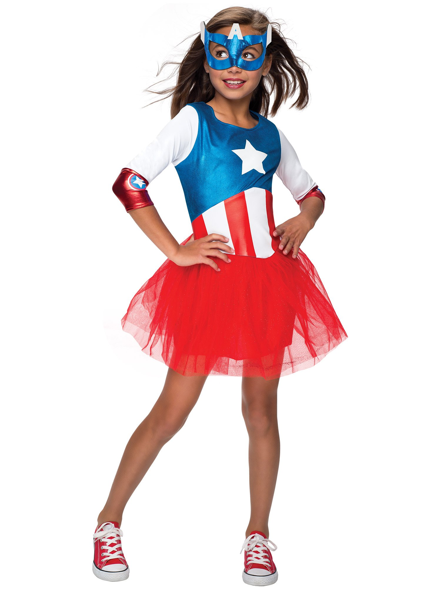 - 7177bX9P0XL - Rubie's Marvel Classic Child's American Dream Metallic Costume