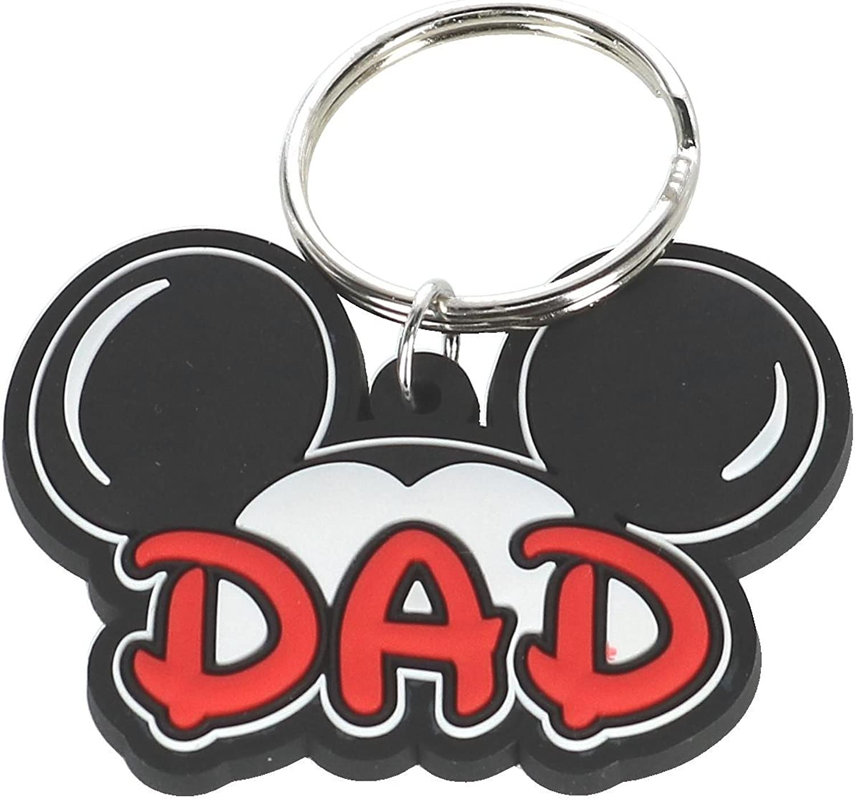 Disney Mickey Mouse Papa Dad Family Lasercut Keychain Keyring Key Chain