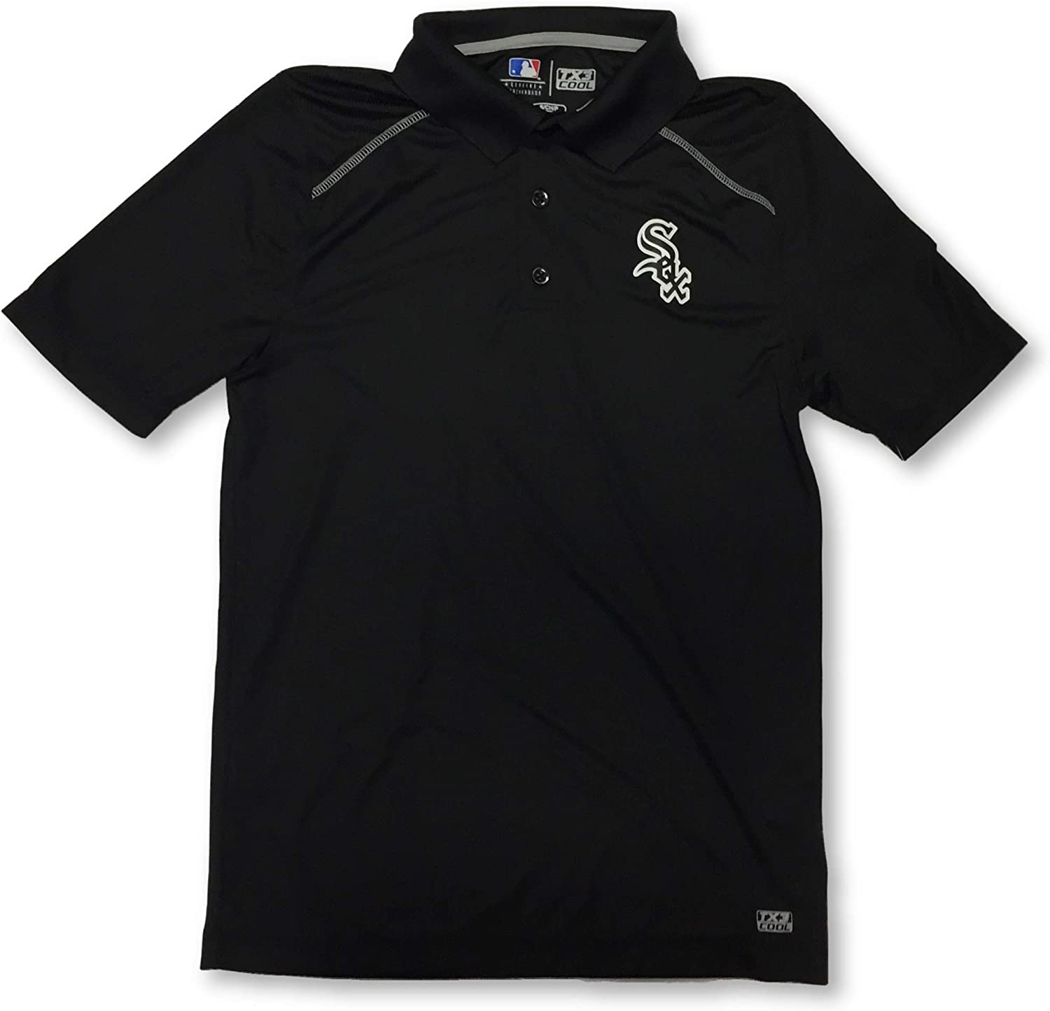 Majestic Chicago White Sox Adult Mens 3 Button Dri Fit Polo Shirt