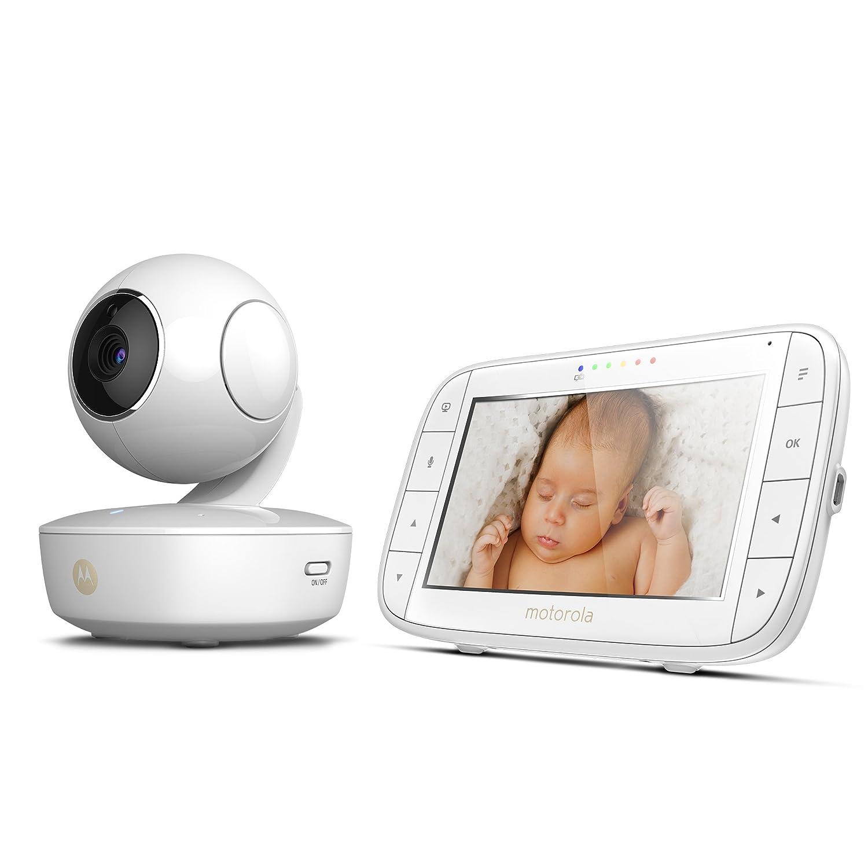 5,0 Zoll Farbdisplay Motorola MBP 48 Video-Babyphone Nachtsicht 300m Reichweite 2-Wege-Audio und Temperatursensor