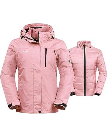 0bf78bdf86 Wantdo Women's 3-in-1 Waterproof Ski Jacket Interchange Windproof Puffer  Liner Warm Winter