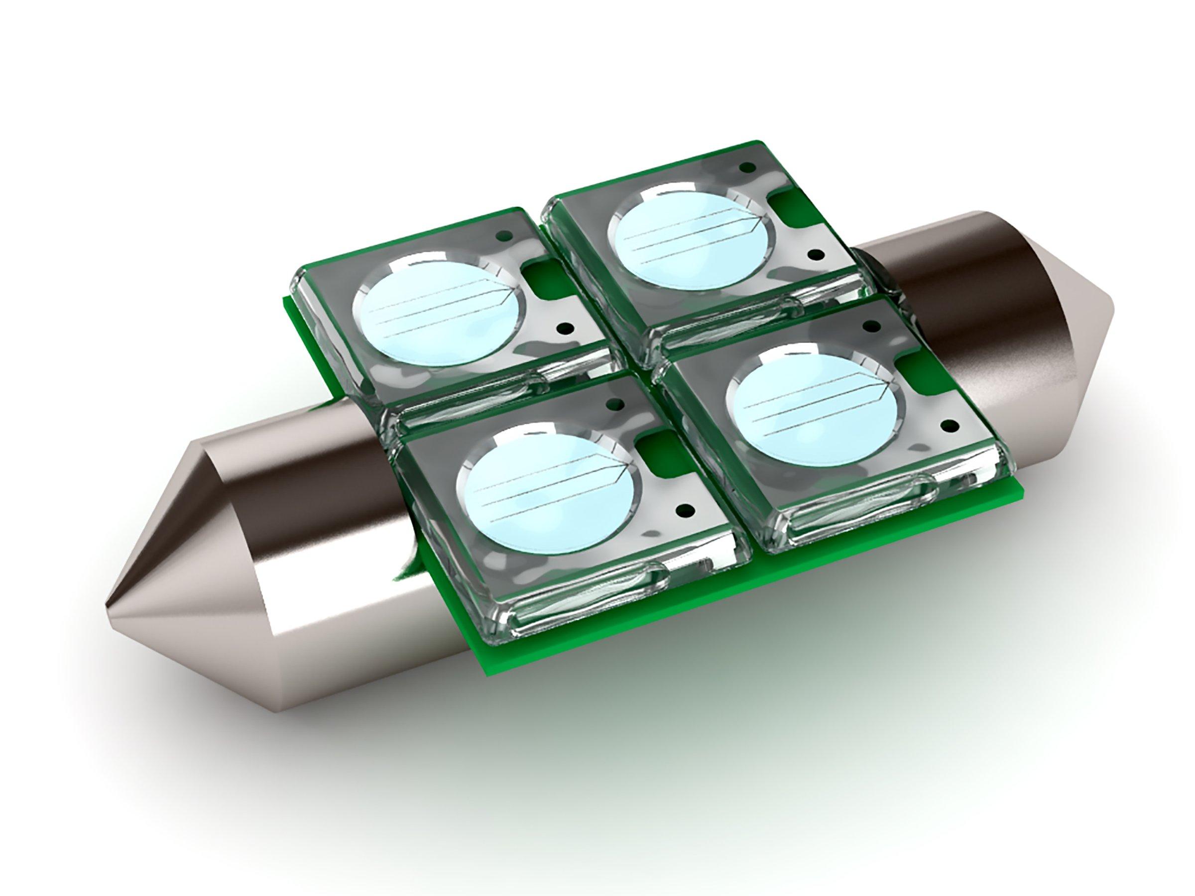 LED Bulb Color: Green/White