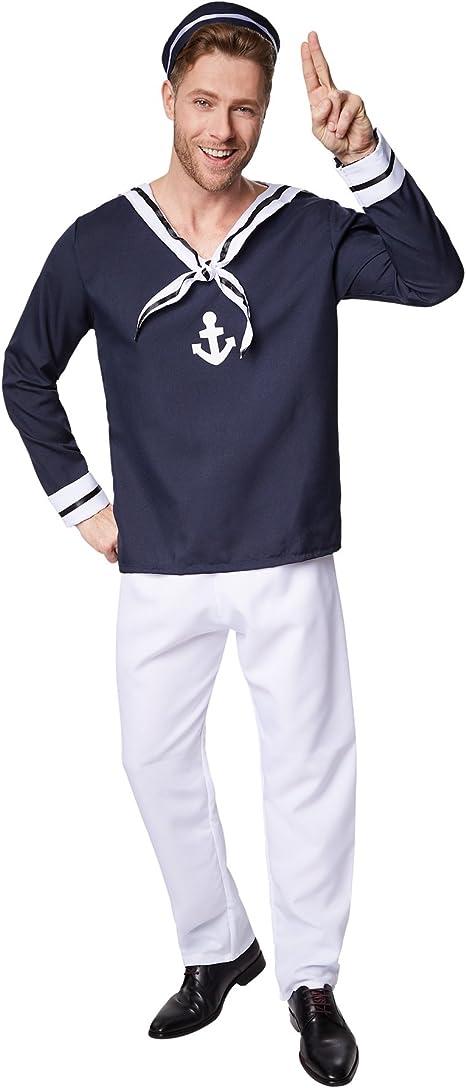 TecTake dressforfun Disfraz para Hombre de Marinero | Parte ...