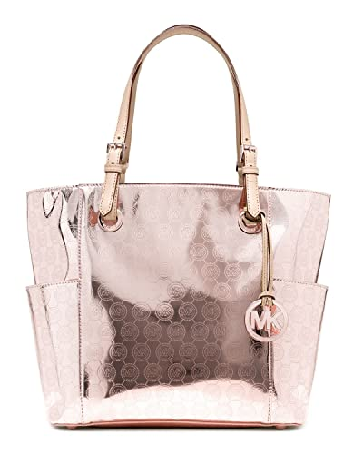 50614de04c Amazon.com  Michael Kors - Jet Set East west Signature Tote - Mirror  Metallic Rose Gold - 30h2mttt4z  Shoes