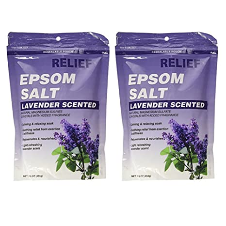 Relief Md Epsom Salt - Lavender Scented, Natural Magnesium Sulfate Crystsals with Added Fragrance,