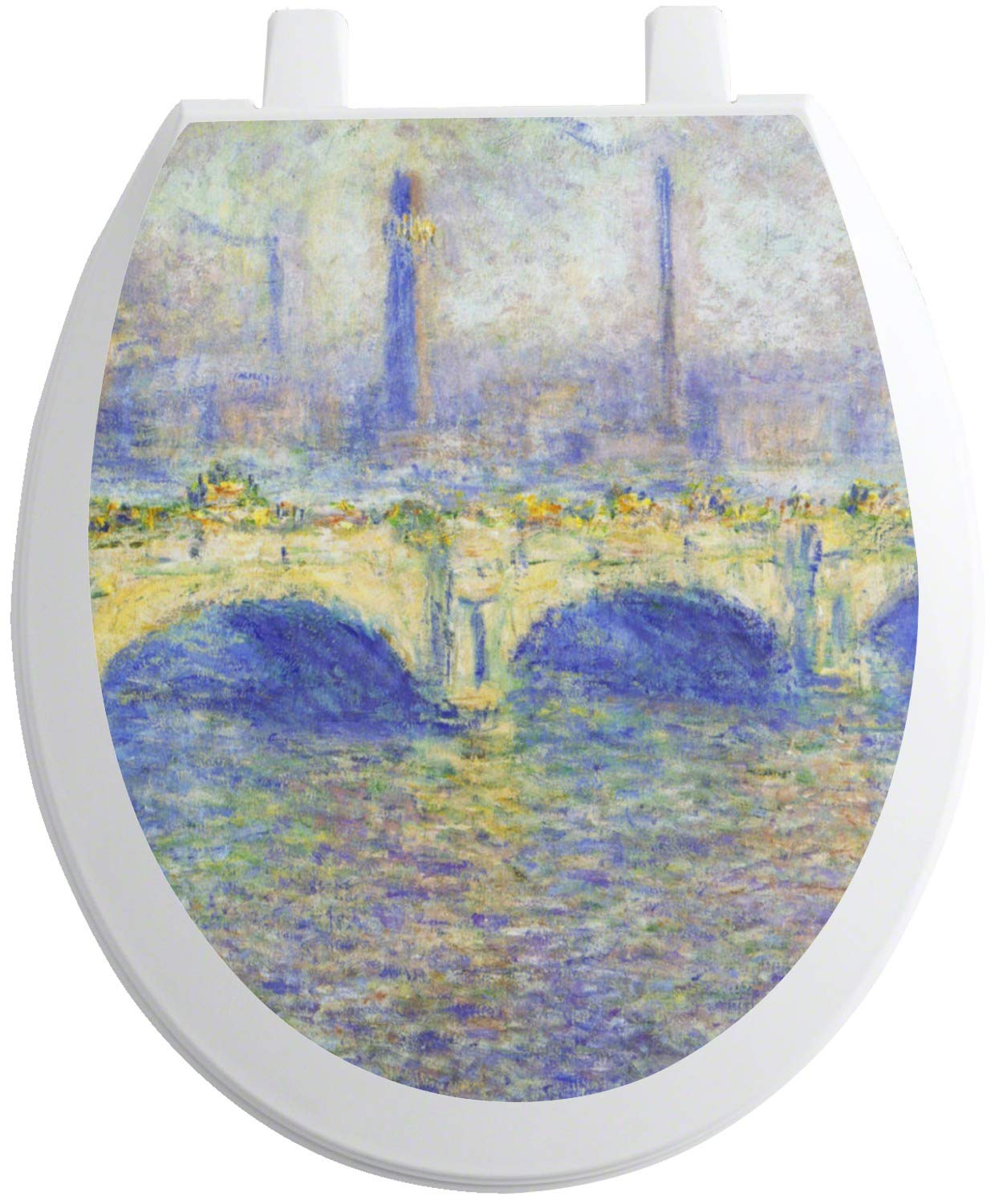 YouCustomizeIt Waterloo Bridge by Claude Monet Toilet Seat Decal - Round by YouCustomizeIt