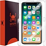 iPhone X Screen Protector + Full Body , Skinomi TechSkin Full Coverage Skin + Screen Protector for iPhone X Front & Back Clear HD Film