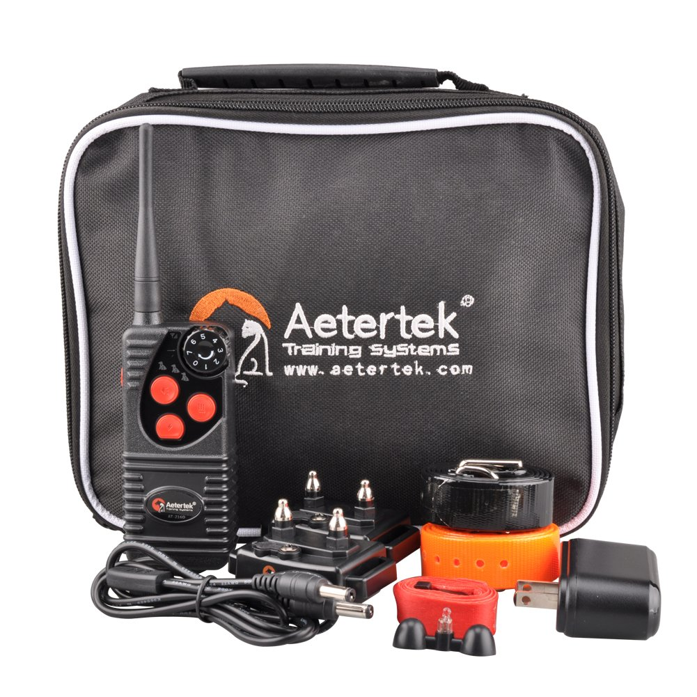Aetertek Upgrade AT-216D 600 Yard Waterproof Rechargeable Remote Dog Training Shock Collar ,Beep ,Vibrate Stop Bark E Collar (For 2 dogs) by Aetertek (Image #6)