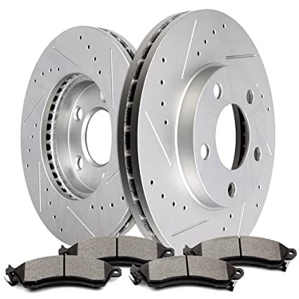 Rotors Ceramic Pads R 1997 1998 1999 Ford Mustang Base//GT OE Replacement
