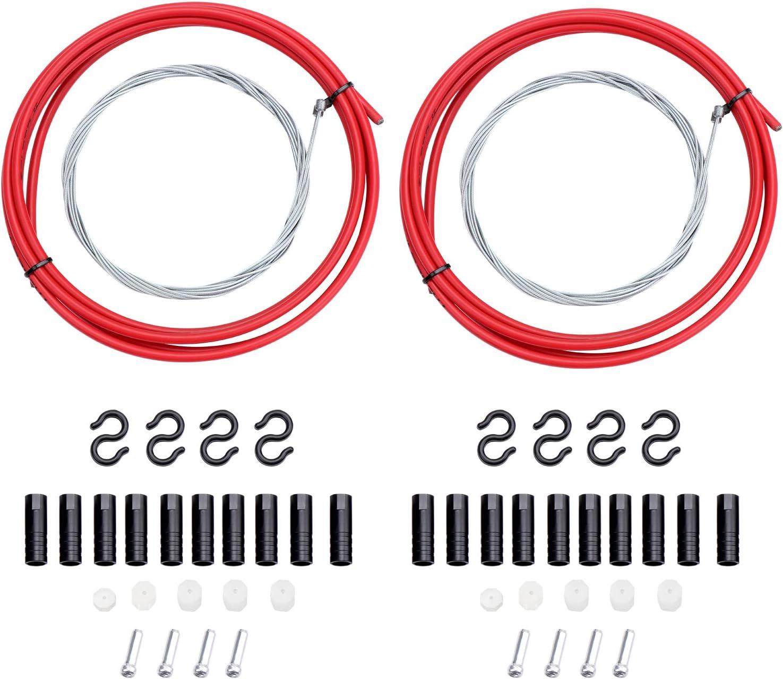 Fippy Cable Universal para Cambio de Bicicleta con Carcasa de Repuesto para Bicicleta de monta/ña y Carretera