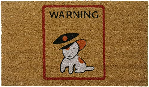 Rubber-Cal Warning, Vicious Puppy Inside Dog Doormats Outdoor Dog Mats, 18 x 30-Inch