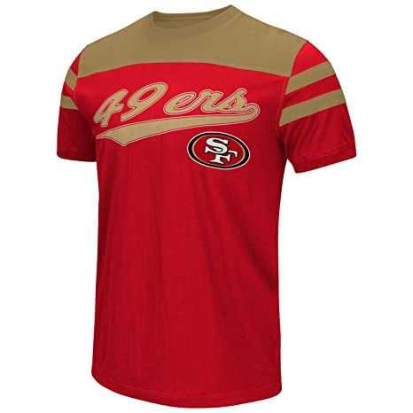 193695a55 San Francisco 49ers Men s Throwback Jersey Style Fashion T-shirt Small