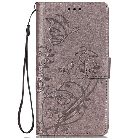 ISAKEN Funda LG G4, Carcasa LG G4 Flip Case, Elegante bolsa ...