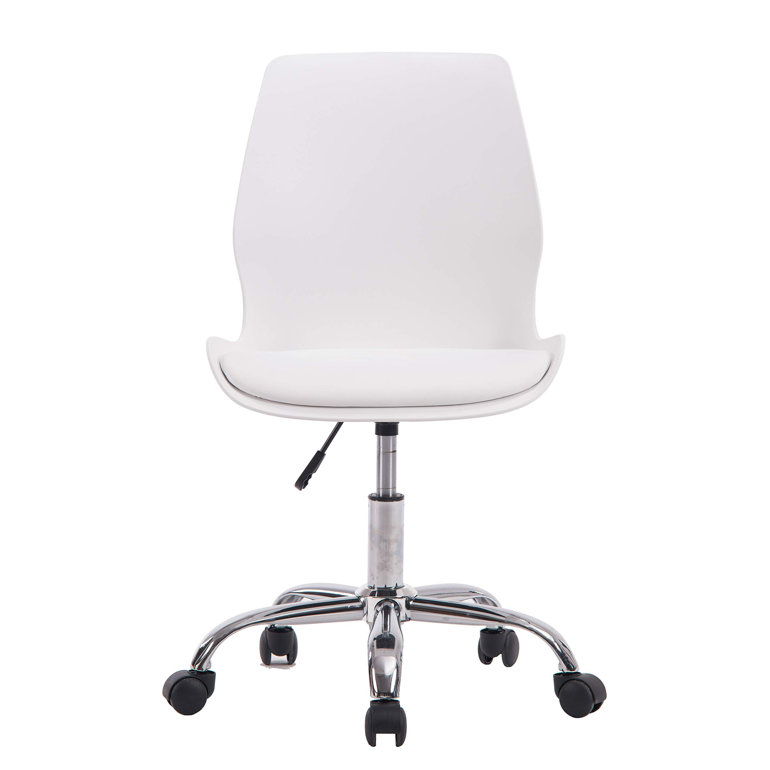 Porthos Home LVC006A WHT Adjustable Height Office Desk Chair with Wheels, Easy Assembly, White or Black, One Size by Porthos Home (Image #2)