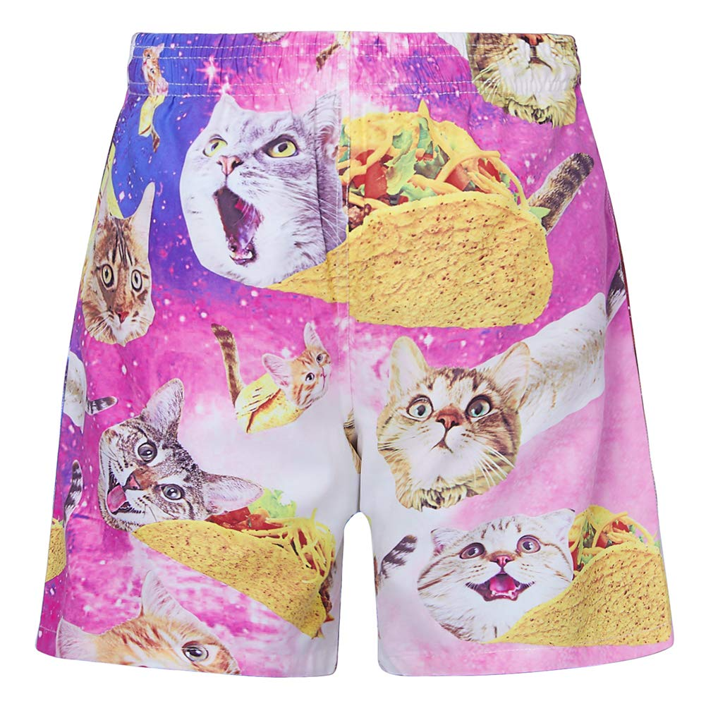 b351716d3e NICOMIDEA Boys Swim Shorts Pizza Cat Swim Trunks Bathing Suits Kids  Swimsuit Swim Shorts with Mesh