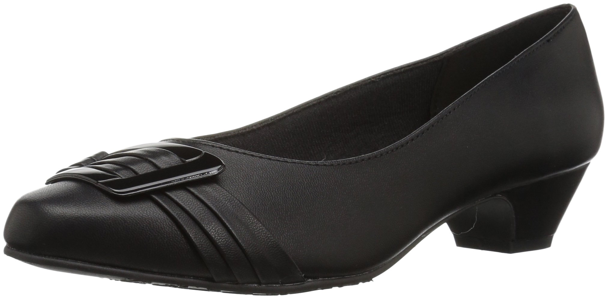 Soft Style by Hush Puppies Women's Pleats Be with You Dress Pump, Black/Patent, 11 W US
