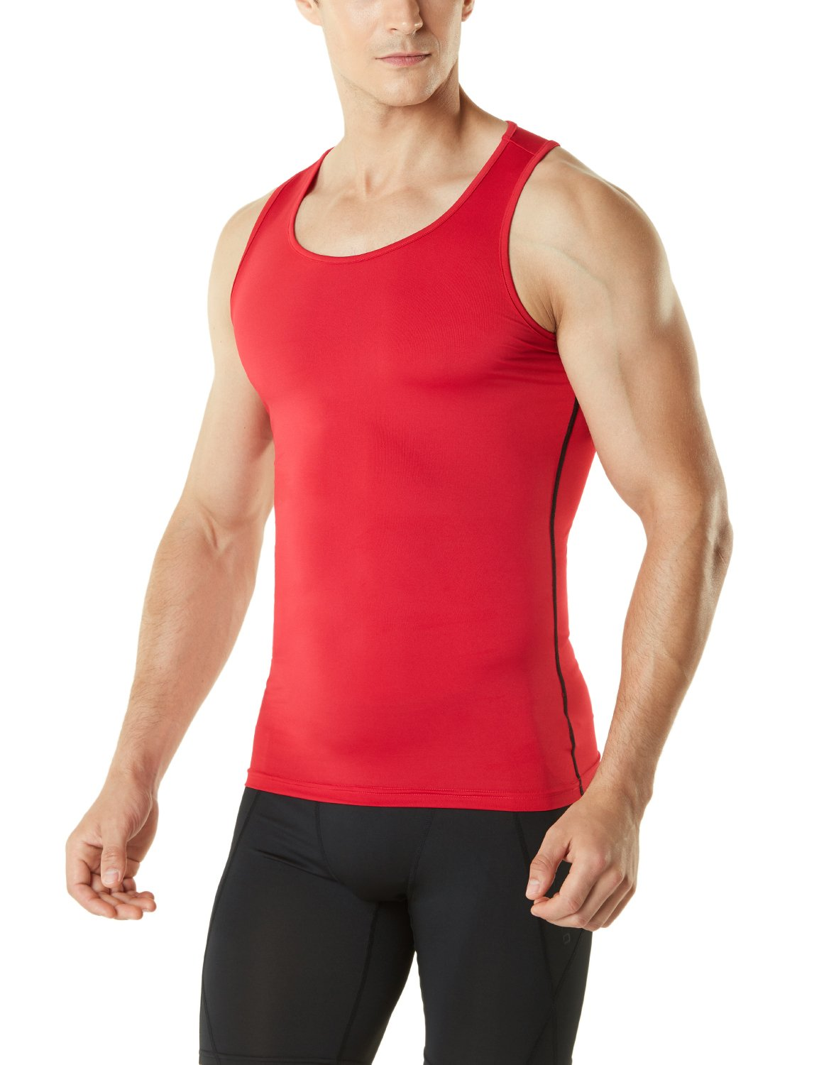 TSLA Men's Sleeveless Muscle Tank Top Cool Dry