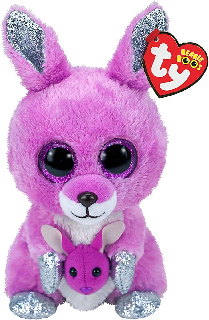Small Claires Exclusive Official Ty Beanie Boo Kora The Koala Soft Plush Toy for Girls Pink//Gray Stocking Stuffer 6 Inches