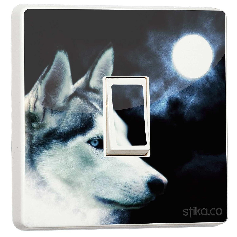 Wolf Moon Veilleuse autocollant en vinyle pour interrupteur stika.co EXPSFD010078