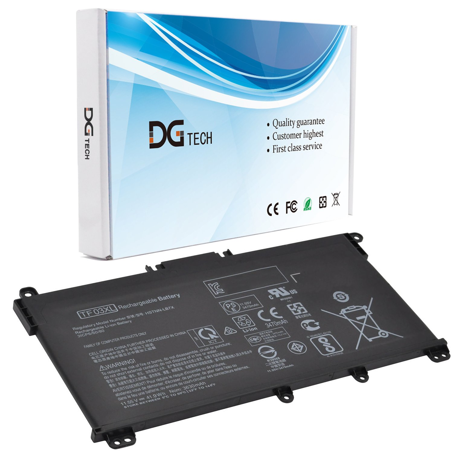 Bateria Tf03xl Compatible Hp Pavilion 15-cd Series Hstnn-lb7x Hstnn-lb7l 920070-855 920046-421