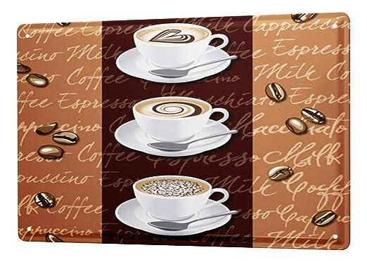 Cartel de chapa Placa metal tin sign Coffee Cafe Bar Copa de ...