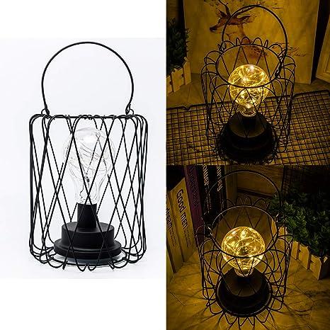 Lámparas de mesa Vintage Decoración Luz de Noche de Metal ...