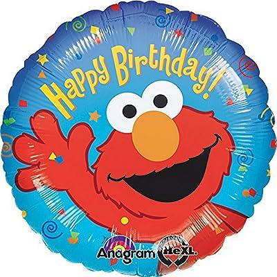 "Anagram International Elmo Birthday Foil Balloon Pack, 18"", Multicolor: Home & Kitchen"