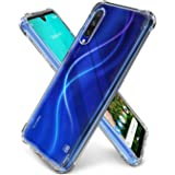 WOW Imagine MI A3 Shockproof Back Cover Case | Flexible Protective Cushioned Edges Crystal Clear TPU Bumper Corners Back Case Cover for Xiaomi Mi A3 – Transparent