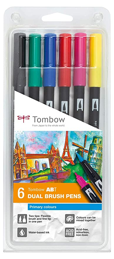 Amazon.com: Tombow rotuladores doble punta con pincel en ...
