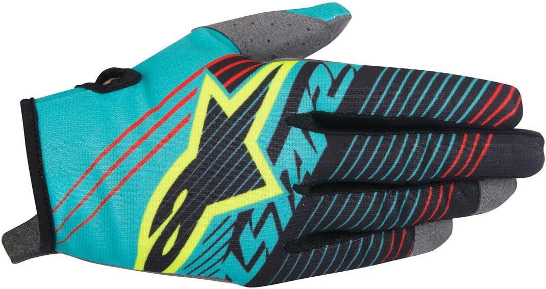 Cyan//White//Dark Blue, Large Alpinestars Unisex-Adult Radar Tracker Gloves