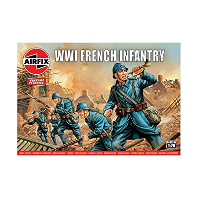 Airfix A00728V 1:76 WWI Soldier Figures 1:72nd Scale Military Figurine, (Pack of 48): Toys & Games
