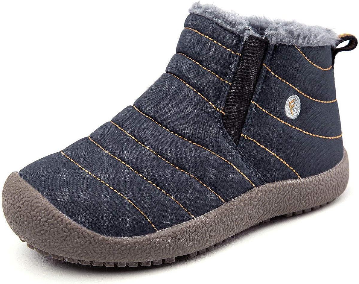 YIRUIYA Kids Winter Boots Slip On