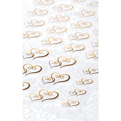 Clear stickers 53 pkg gold double heart