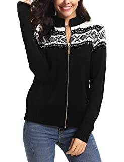 a488e5397a69a iClosam Women Knit Sweater Long Sleeve Solid Pullover Turtleneck Sweater