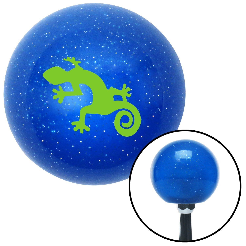 Green Gecko American Shifter 22582 Blue Metal Flake Shift Knob