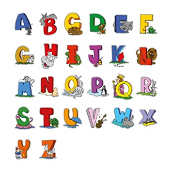 childrens alphabet abc wall decal decorative while educational letters of the alphabet wall stickers large