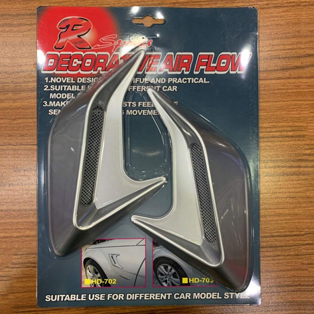 Morza Air Flow Vent Hood Universal Car Side Bonnet Vent Dekorative Air Flow Intake Lufthutze