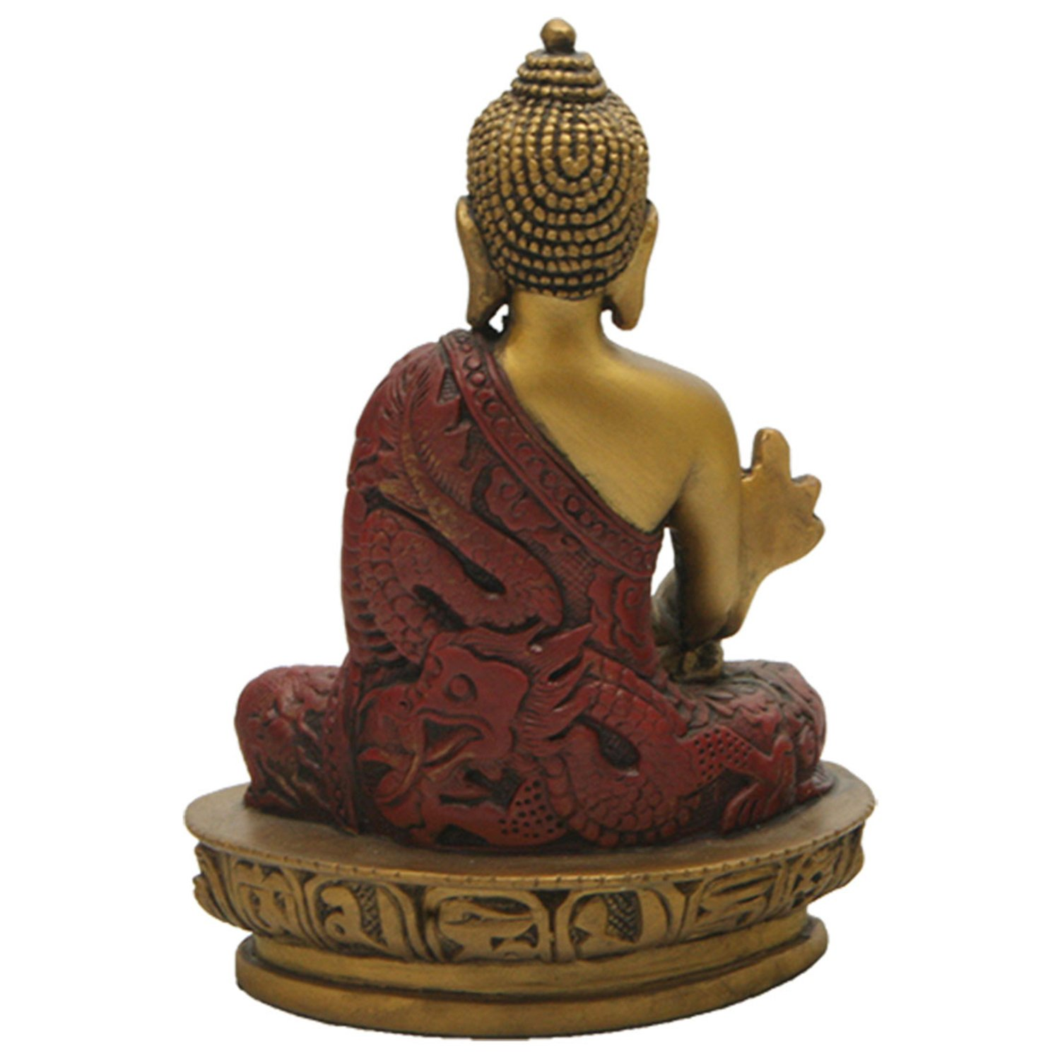 Amazoncom Medicine Buddha Statue With Gold Color Detail, 5 Inches
